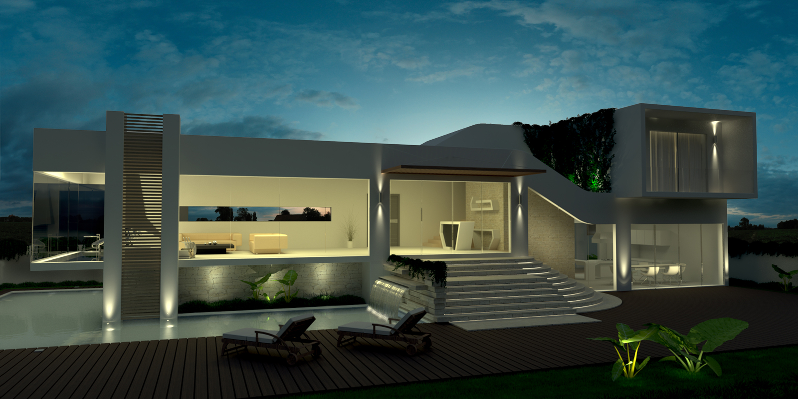 with an emphasis on luxury modern design and energy saving. More